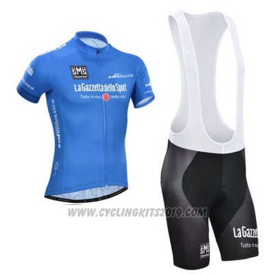 2014 Cycling Jersey Giro D'italy Blue Short Sleeve and Bib Short