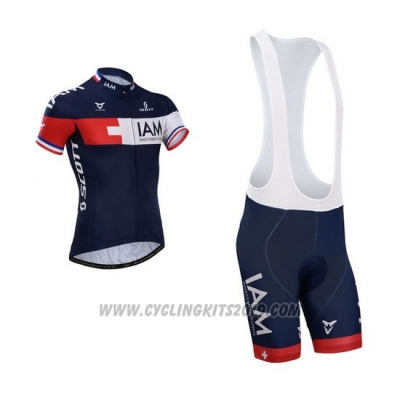 2015 Cycling Jersey IAM Blue Short Sleeve and Bib Short