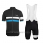 2015 Cycling Jersey Rapha Black and Blue Short Sleeve and Bib Short