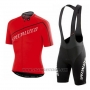 2015 Cycling Jersey Specialized Bright Red Short Sleeve and Bib Short