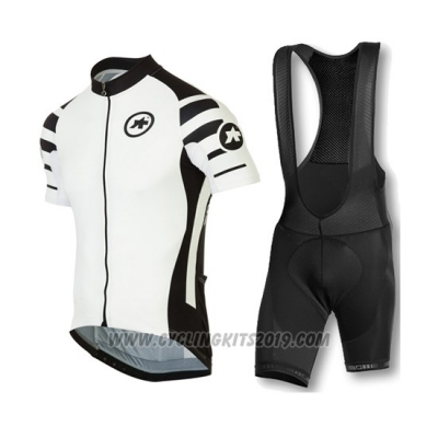 2016 Cycling Jersey Assos Black and White Short Sleeve and Bib Short