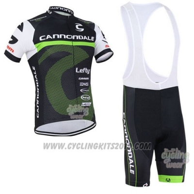 2016 Cycling Jersey Canonodale Green and Black Short Sleeve and Bib Short