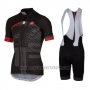 2016 Cycling Jersey Castelli Red Black Short Sleeve and Bib Short