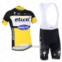 2016 Cycling Jersey Etixx Quick Step Black and Yellow Short Sleeve and Bib Short