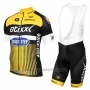 2016 Cycling Jersey Etixx Quick Step Yellow and Black Short Sleeve and Bib Short