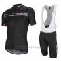 2016 Cycling Jersey Nalini Black Short Sleeve and Salopette