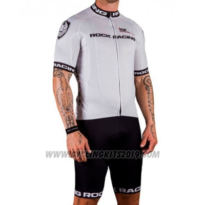 2016 Cycling Jersey Rock Racing Silver Short Sleeve and Bib Short