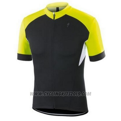 2016 Cycling Jersey Specialized Black and Yellow Short Sleeve and Bib Short