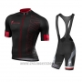 2016 Cycling Jersey Specialized Dark Red and Black Short Sleeve and Bib Short
