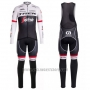 2016 Cycling Jersey Trek Segafredo Black and White Long Sleeve and Bib Tight