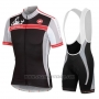 2016 Cycling Jersey Women Castelli Black and Red Short Sleeve and Bib Short