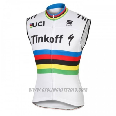 2016 Wind Vest Tinkoff White and Red