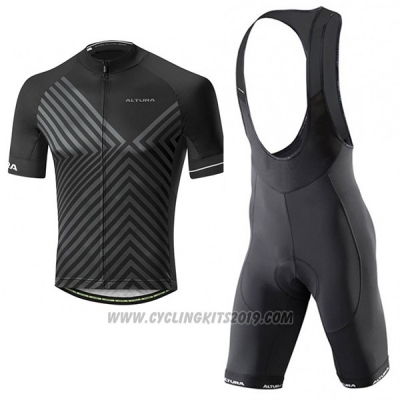 2017 Cycling Jersey Altura Peloton Black Short Sleeve and Bib Short