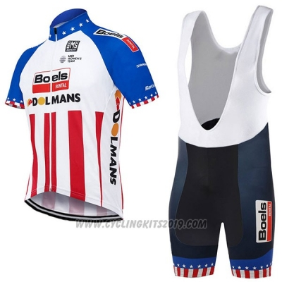 2017 Cycling Jersey Boels Dolmans Campione The United States Short Sleeve and Bib Short