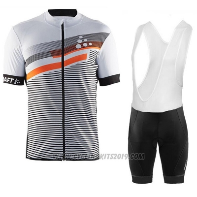 2017 Cycling Jersey Craft Gray Short Sleeve and Bib Short