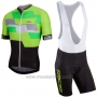 2017 Cycling Jersey Nalini Cervino Green and Black Short Sleeve and Salopette