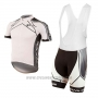 2017 Cycling Jersey Pearl Izumi White Short Sleeve and Bib Short