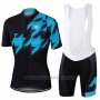 2017 Cycling Jersey Sportful Black and Blue Short Sleeve and Bib Short