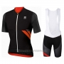 2017 Cycling Jersey Sportful R&d Ultraskin Black Short Sleeve and Bib Short