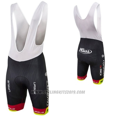 2017 Cycling Jersey Wieiev Italy Red and Yellow Short Sleeve Bib Short3