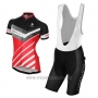 2017 Cycling Jersey Women Nalini Red and Black Short Sleeve and Bib Short