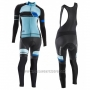 2017 Cycling Jersey Women Orbea Black and Blue Long Sleeve and Bib Tight
