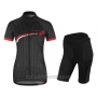 2017 Cycling Jersey Women Vaude Black and Red Short Sleeve and Bib Short