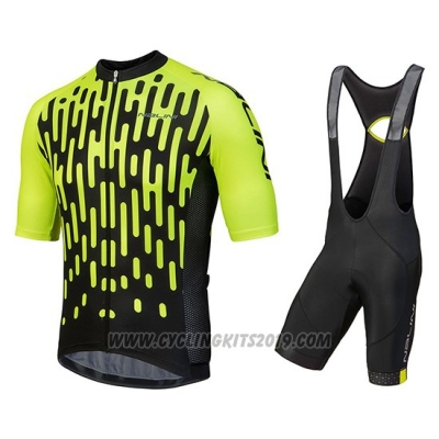 cc91d5e59 2018 Cycling Jersey Nalini Podio Green Short Sleeve and Salopette