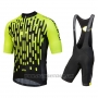 2018 Cycling Jersey Nalini Podio Green Short Sleeve and Salopette