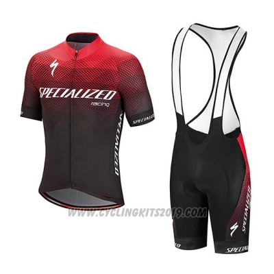 2018 Cycling Jersey Specialized Red Black White Short Sleeve and Bib Short(1)