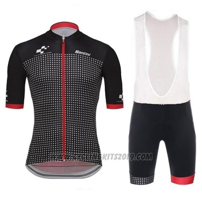 2018 Cycling Jersey Tour de Suisse Helvetia Black Red Short Sleeve and Bib Short