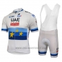 2018 Cycling Jersey UCI Mondo Campione Leader Uae Lite White Short Sleeve and Bib Short