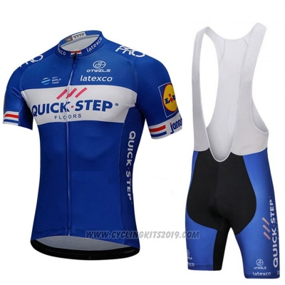2018 Cycling Jersey UCI Mondo Campione Quick Step Floors Blue Short Sleeve and Bib Short