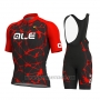 2019 Cycling Jersey ALE Red Short Sleeve and Bib Short
