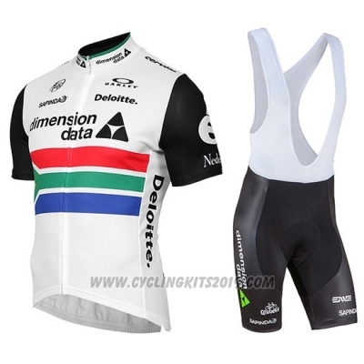 2019 Cycling Jersey Dimension Data Champion South Africa Short Sleeve and Bib Short