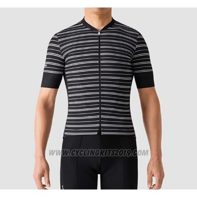 2019 Cycling Jersey La Passione Stripe Black Short Sleeve and Bib Short