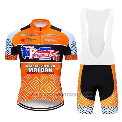2019 Cycling Jersey Mardan Orange Short Sleeve and Bib Short