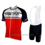 2019 Cycling Jersey Nalini White Red Black Short Sleeve and Bib Short