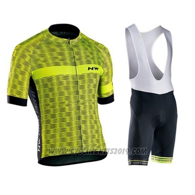 2019 Cycling Jersey Northwave Green Short Sleeve and Bib Short