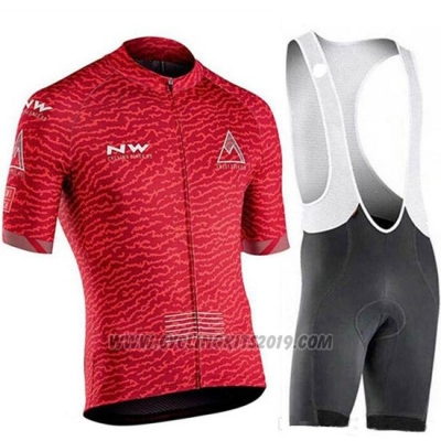 2019 Cycling Jersey Northwave Red Short Sleeve and Bib Short(2)