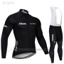 2019 Cycling Jersey STRAVA Black Long Sleeve and Bib Tight