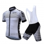 2019 Cycling Jersey Teleyi Bike White Black Short Sleeve and Bib Short