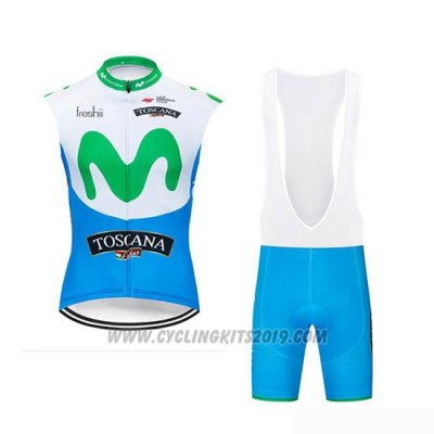 2019 Wind Vest Movistar White Blue Green
