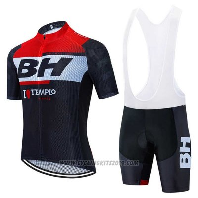 2020 Cycling Jersey BH Templo Red White Black Short Sleeve and Bib Short
