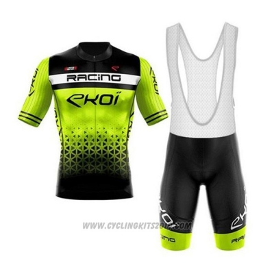 2020 Cycling Jersey EKOI Black Green Short Sleeve and Bib Short