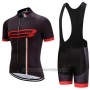 2020 Cycling Jersey Giro d'Italia Black Red Short Sleeve and Bib Short
