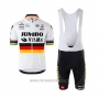 2020 Cycling Jersey Jumbo Visma Champion Germany Short Sleeve and Bib Short