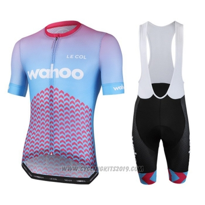 2020 Cycling Jersey Le Col Sky Blue Pink Short Sleeve and Bib Short