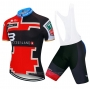 2020 Cycling Jersey Switzerland Red Black Blue Short Sleeve and Bib Short