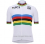 2020 Cycling Jersey UCI White Multicolore Short Sleeve and Bib Short(1)